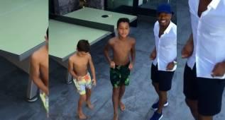 Evra da la bienvenida a Higuaín con un divertido baile
