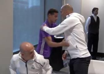 ¿Fue frío el abrazo entre James y Zidane? Miren el de Modric