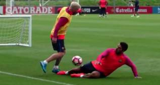 Messi sigue siendo Messi: así humilló a Luis Suárez y Mathieu