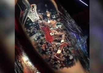 ¡Brutal! La leyenda de Michael Jordan grabada en la piel