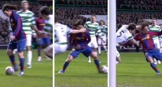 El lío descomunal de un joven Messi (20 años) al Celtic