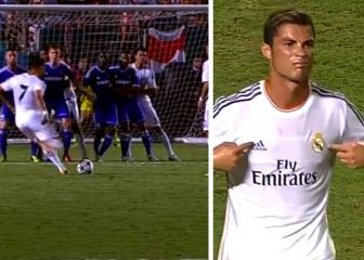 La 'falta tomahawk' de Cristiano al Chelsea de Mou