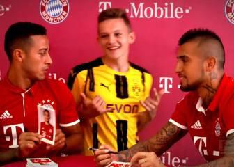 ¿Qué broma le hicieron Thiago y Vidal a este fan del Borussia?