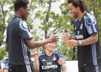 ¿Podrá Marcelo enseñar a este fan su saludo con James?
