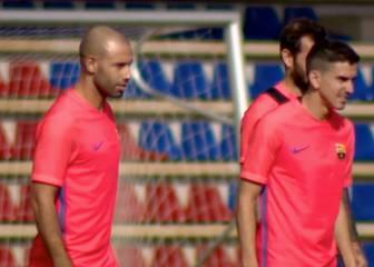 Busquets y Mascherano viajan para jugar contra el Leicester