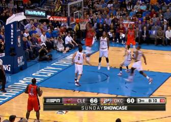 Las jugadas de Westbrook que emocionaron a los Thunder