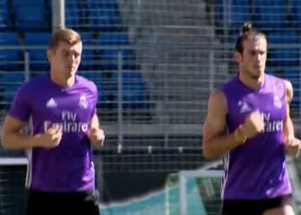 Carrera continua bajo el sol en el primer día de Bale y Kroos