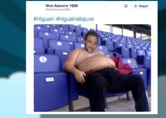 Higuaín debuta con sobrepeso y los memes se ceban con él