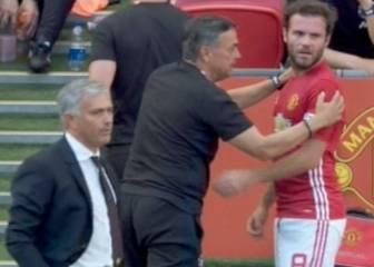 Empieza mal la relación Mata-Mourinho: le cambió a los 30'