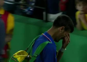 Las lágrimas de un Djokovic desolado tras decir adiós