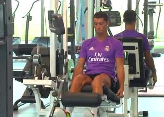Primer entreno de Cristiano y Pepe: gimnasio y carrera
