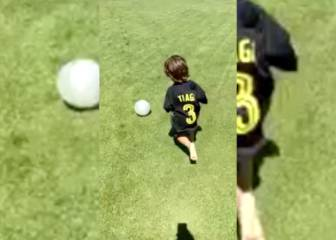 El hijo de Filipe Luis promete: ¡vaya golazo marcó!