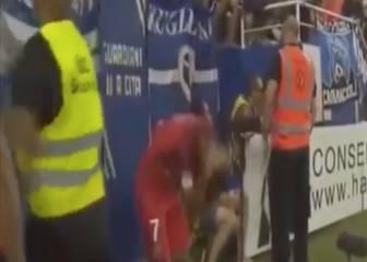 La agresión a Lucas Moura que acabó con la grada enfrentada