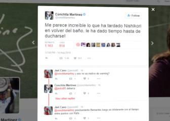 Conchita estalla contra Nishikori por su espantada