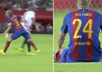 Susto por la rodilla de Iniesta y lesión muscular de Mathieu