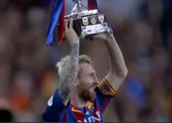Así levantó Leo Messi su primera Copa como capitán