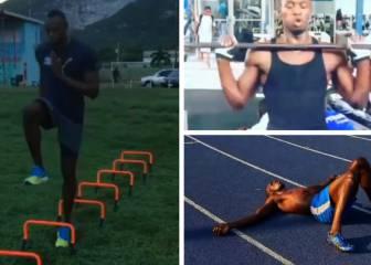 Así se machaca Usain Bolt, el hombre más rápido de la tierra