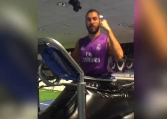 Un guiño esperanzador: así se recupera Benzema de su lesión