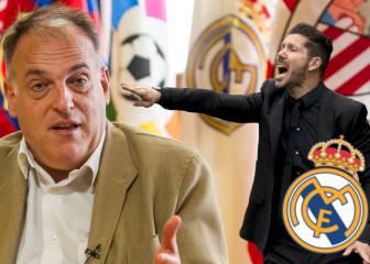 El recado de Javier Tebas hacia el Real Madrid y Simeone