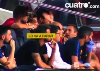 La apuesta de Piqué y Alba: 20 euros a que Bravo tapa el penal