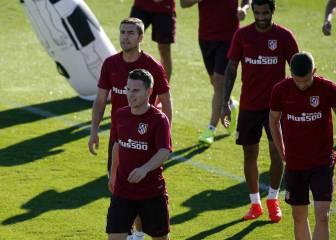 Último entrenamiento del Atlético y 19 convocados
