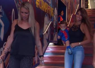 Antonella y Sofía eclipsaron a Messi y Suárez en el túnel