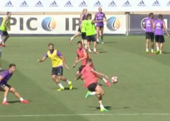 El arte de Ramos: golazo de fantasía en el entrenamiento