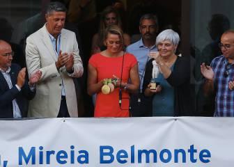 Mireia recibe un caluroso homenaje en Badalona