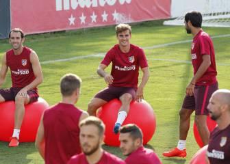 Simeone sigue con las pruebas del once contra el Leganés