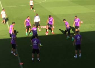 Entreno del Madrid sin Cristiano y Benzema