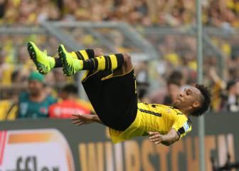 Victoria del Dortmund y doblete de Aubameyang