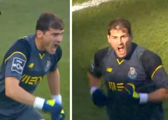 Casillas enloquece reclamando mano en los goles del Sporting