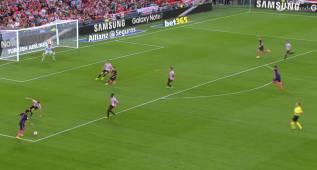 Escandalosa asistencia de Arda Turan en el gol de Rakitic