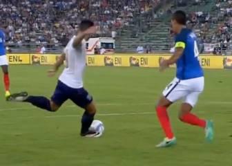 Pellè destrozó a Varane: vean la secuencia del gol de Italia
