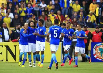 Brasil arrolla a Ecuador y se acerca al Mundial de Rusia
