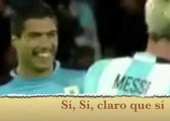 La recreación surrealista en el Mirror del Messi-Suárez