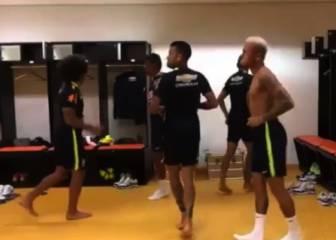 ¡El baile de Neymar y Marcelo que causa furor en Brasil!