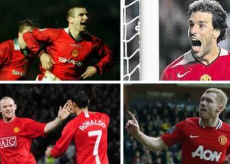 El United presume de goles de sus leyendas al City en Vine
