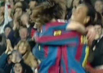 La transición dulce fue frente al Alavés: de 'Dinho' a Messi