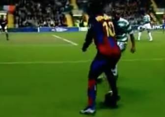 Se te caerá la baba: el recital de Ronaldinho ante el Celtic