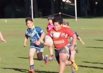 Beast! The 8 year-old colossus unstoppable on the rugby field
