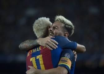 El Barcelona sonríe en Europa con un Messi imparable