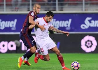 El Sevilla, incapaz contra un Eibar con 9 jugadores