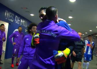 El buen rollo de Diego López con sus ex: abrazos para todos