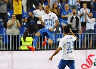 Un gol de En-Nesyri culmina la remontada del Málaga