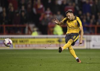 Lucas se estrena de gala con el Arsenal: doblete y asistencia