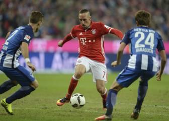 El gol de trilero loco de Ribery: los rivales caían como conos