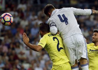 Ramos se desquitó: otro gran testarazo del capitán