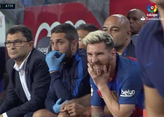 Para verla: la cara de Messi en la ocasión de Piqué