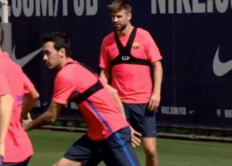 El Barcelona se vuelve a entrenar con la baja de Messi